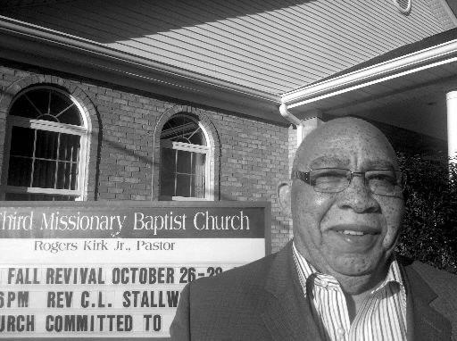 Rev. Rogers Kirk, at Third Missionary Baptist Church