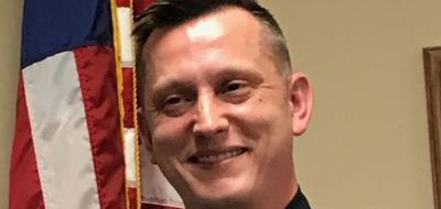 Blue Grass Police Chief Garrett Jahns