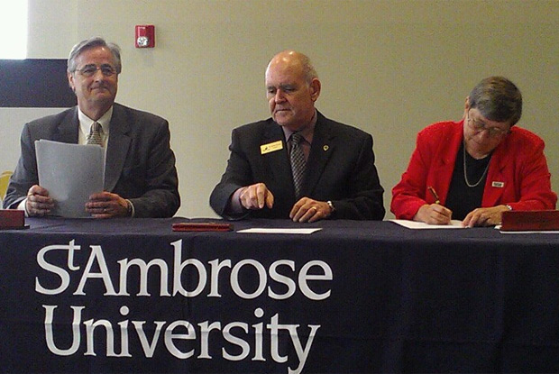 St. Ambrose, community colleges announce admission agreements