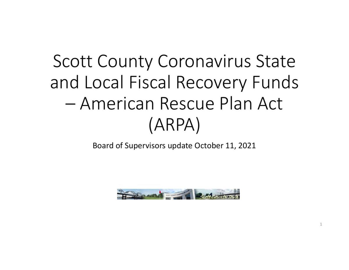 Scott County update on COVID relief projects