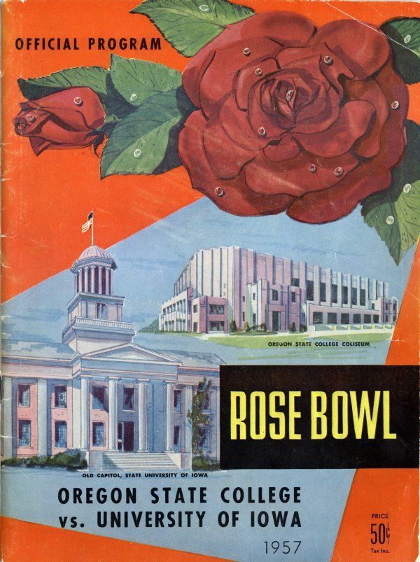 1957 Rose Bowl program