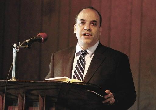 Ken Golden at the pulpit