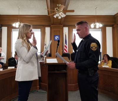 Darren Gault is sworn in as Moline's new chief of police