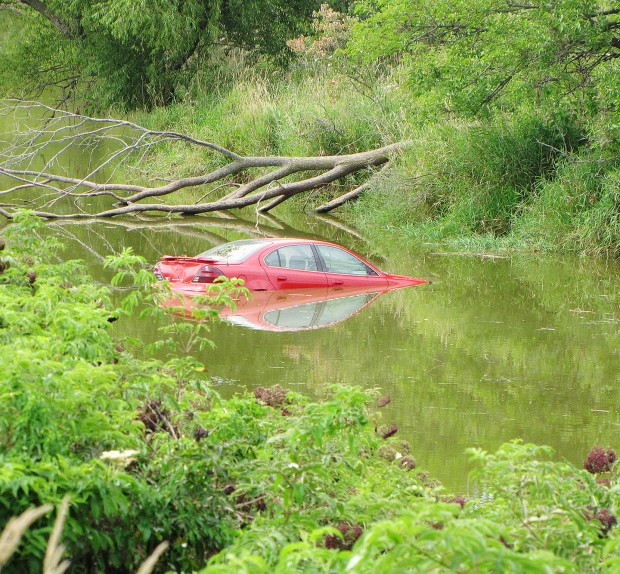 High-speed Chase Ends With Car In Pond