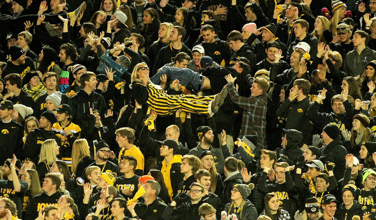 An image of college fans at a game