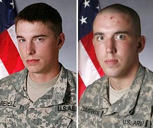 Injured soldiers Redell, Zimmerman