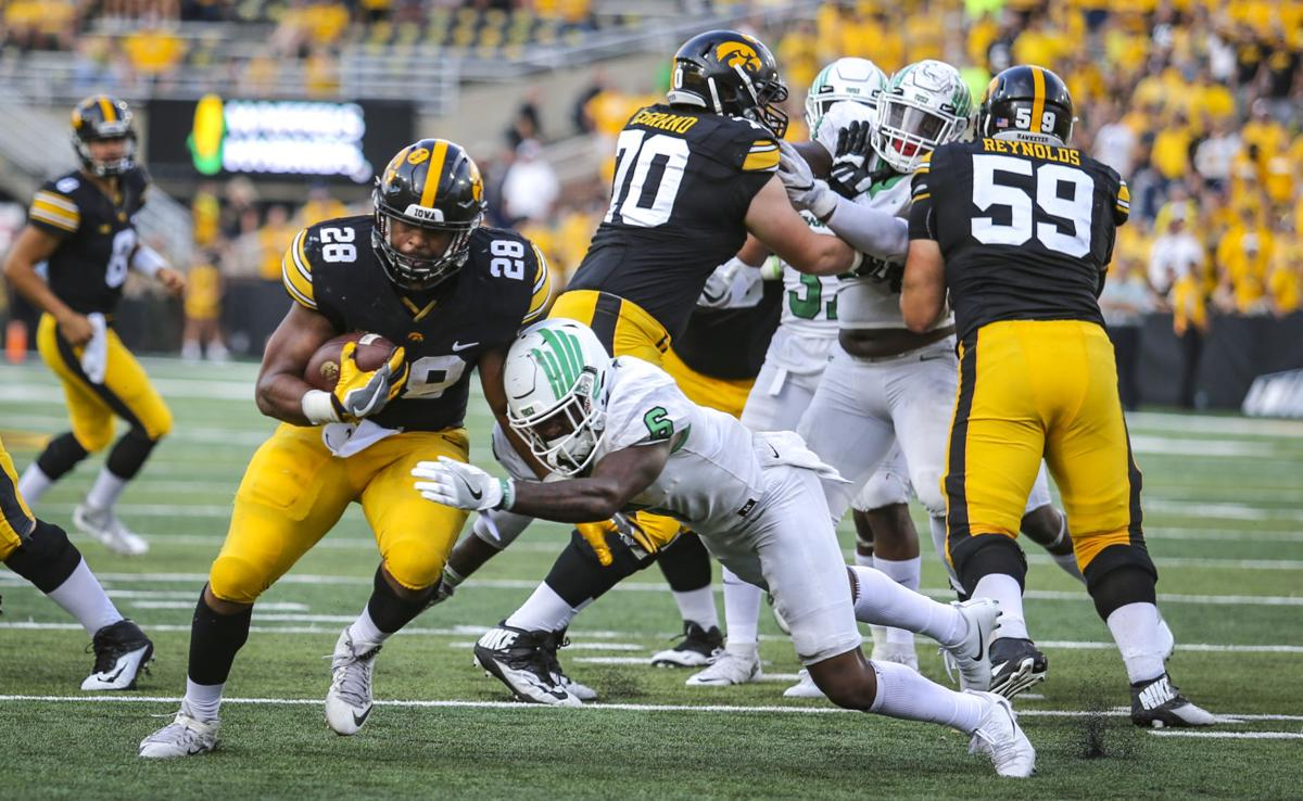 Young running backs spur Iowa past North Texas | Hawkmania ...