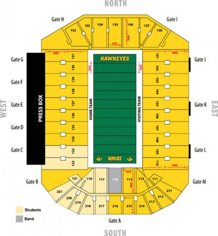 Kinnick Stadium Seating Chart : Iowa Hawkeyes Football