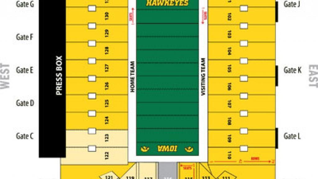 Kinnick Stadium seating chart | Iowa Hawkeyes Football | qctimes.com
