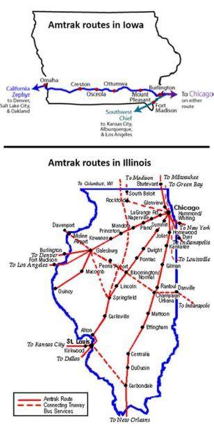 Amtrak in Iowa and Illinois