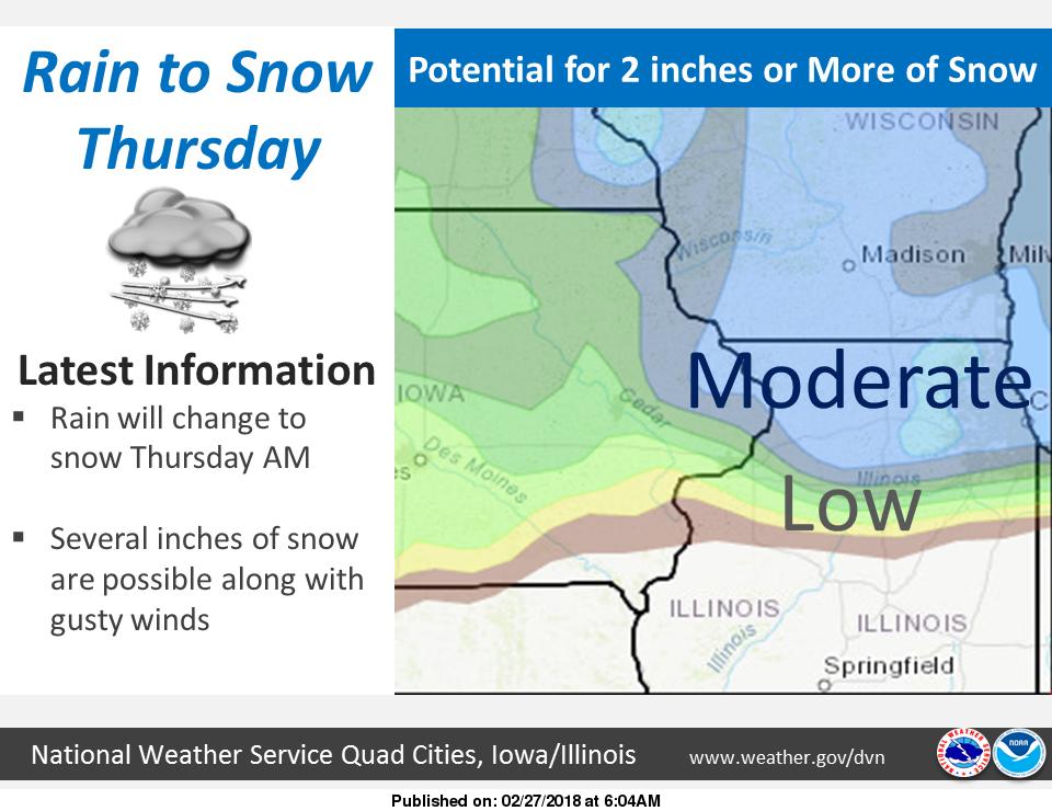NWS: snow ahead