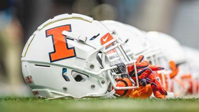 Illinois football helmets (Shawn Miller)