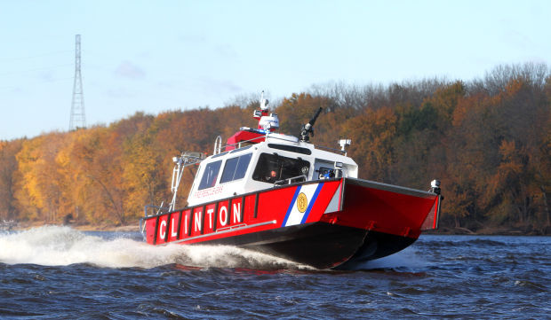 Clinton fire boat