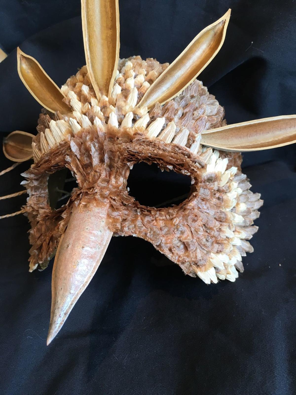 mask at side
