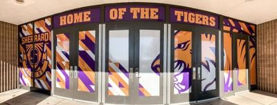 Sherrard High School front doors