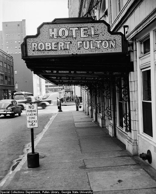 robert fulton hotel sign