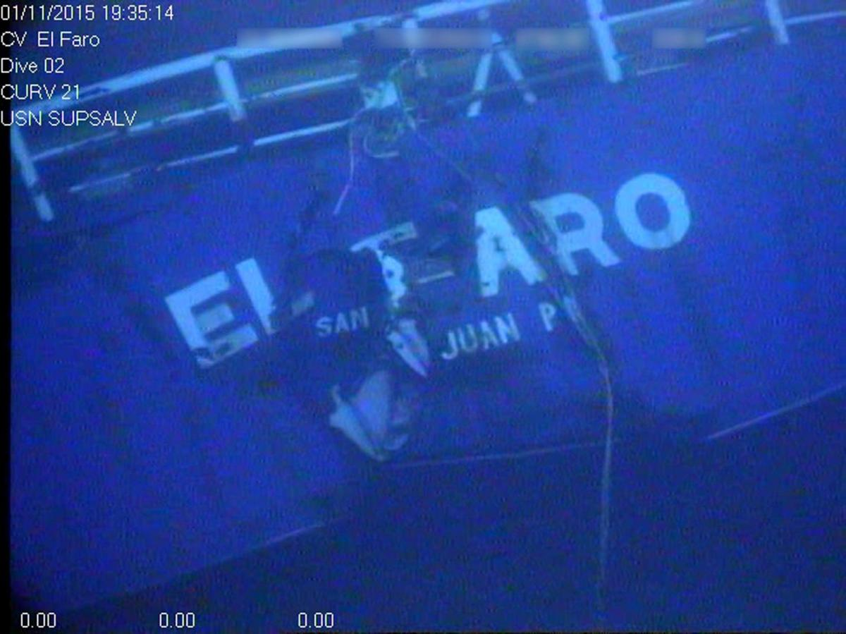 The sunken ship El Faro