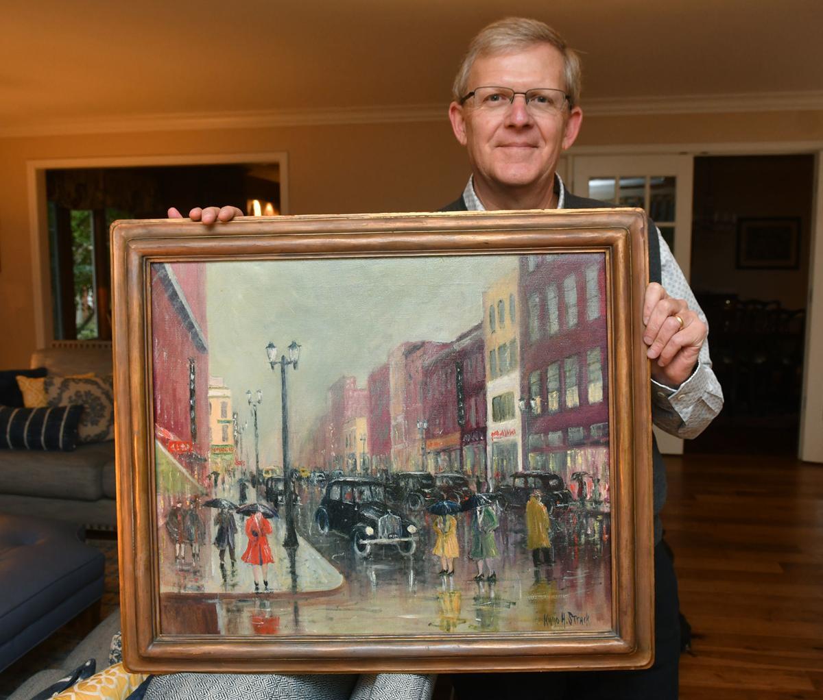 Scott Saveraid and his Kuno Struck painting