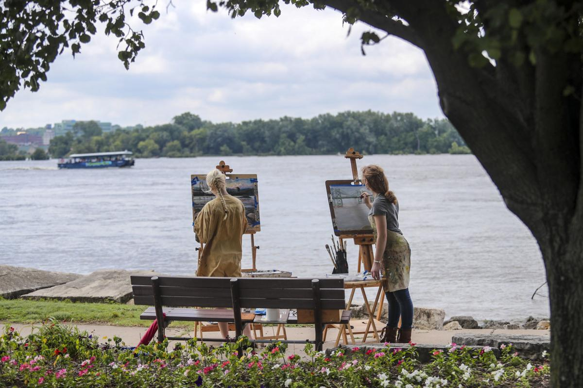 Image result for Outdoor painters capture Quad Cities' beauty