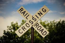 Railroad crossing image