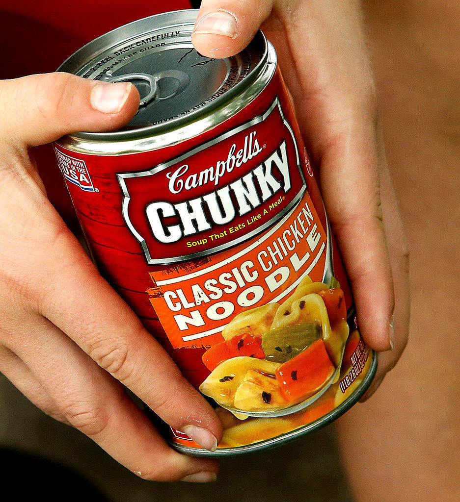 Student Hunger Drive soup can