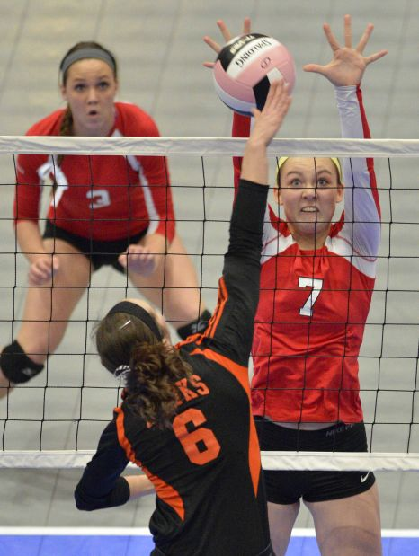 Assumption vs West Delaware state volleyball