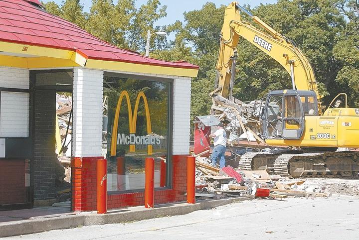 Demolition begins on first Q-C McDonald's