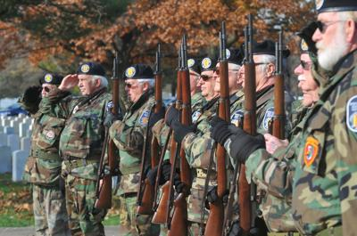Veterans Day ceremonies at the Rock Island National Cemetery