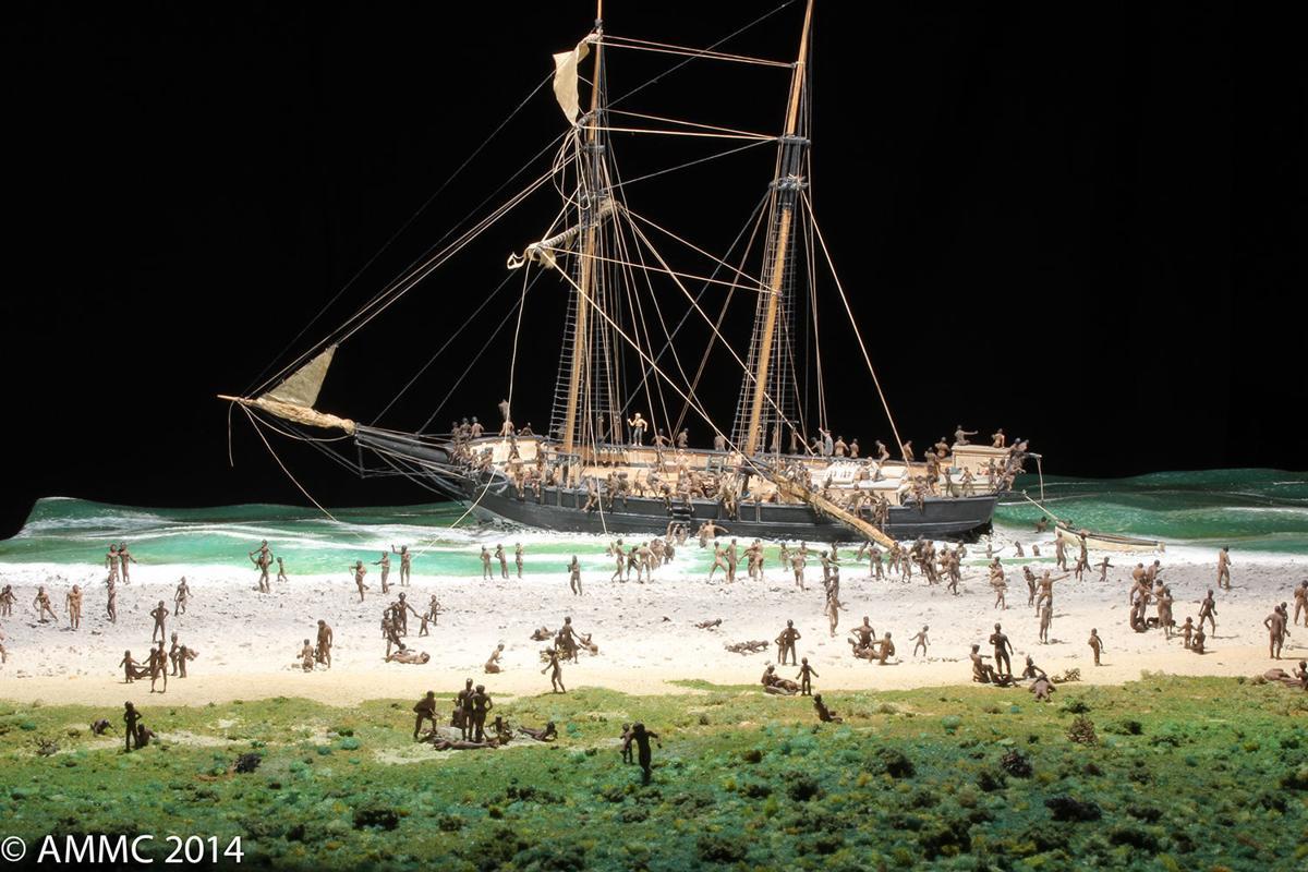 Slave schooner shipwreck, Bahamas