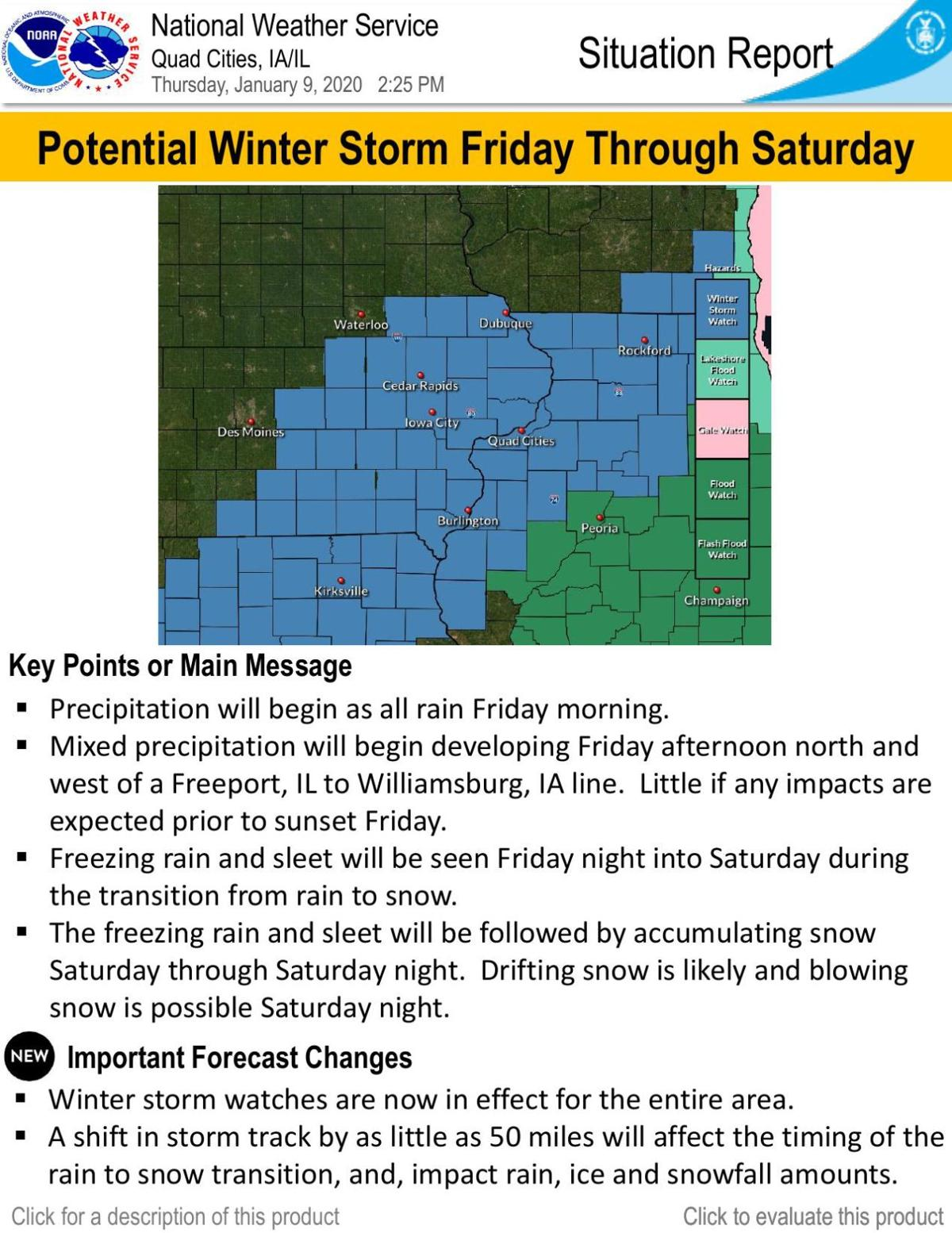 Winter Storm Situation Report