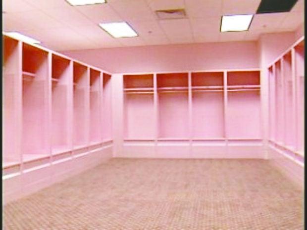 pink locker room