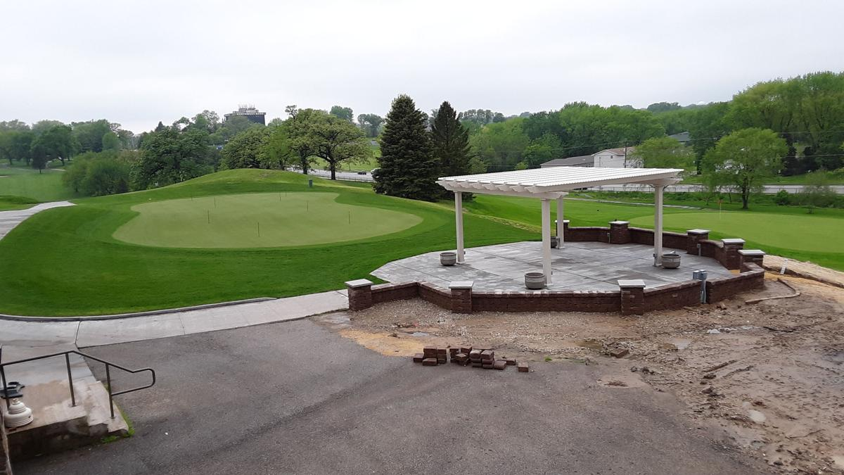 Palmer Hills Golf Course new putting green and pavilion