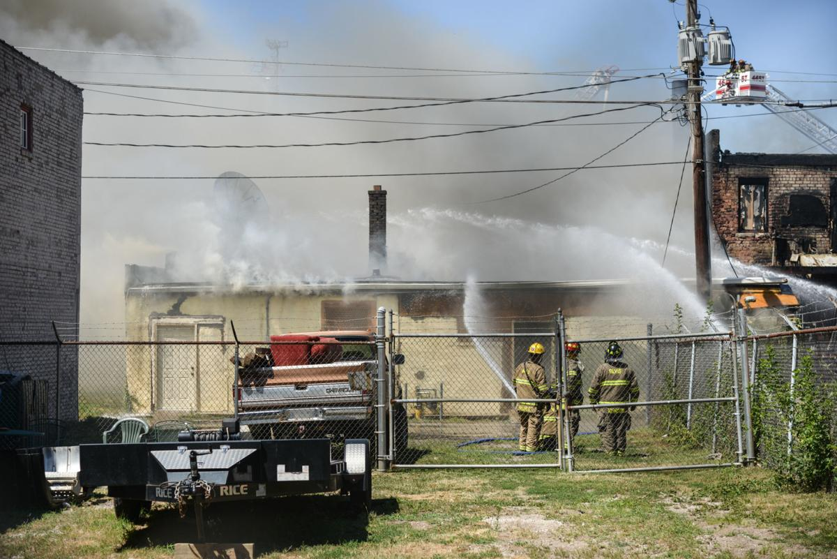 Photos: Firefighters battle large fire in downtown East Moline