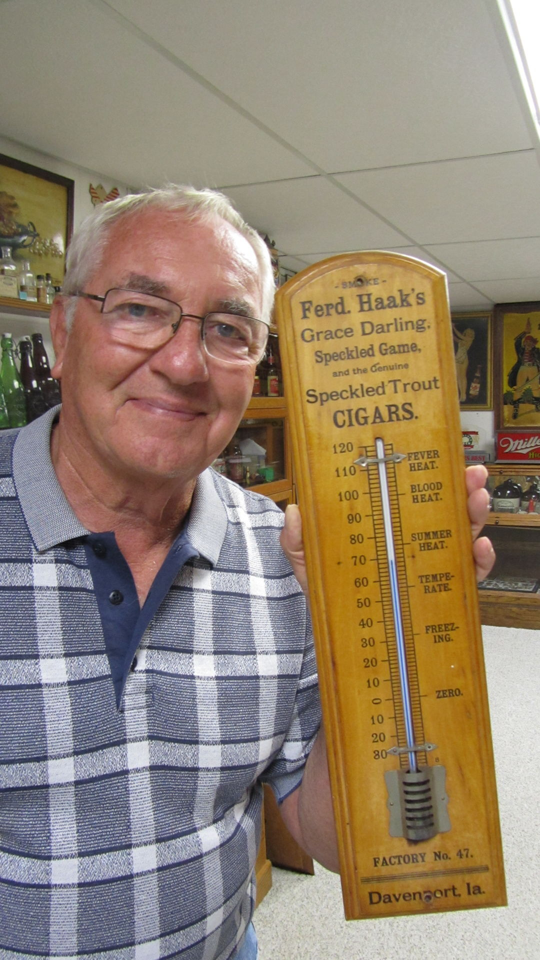 merle with thermometer