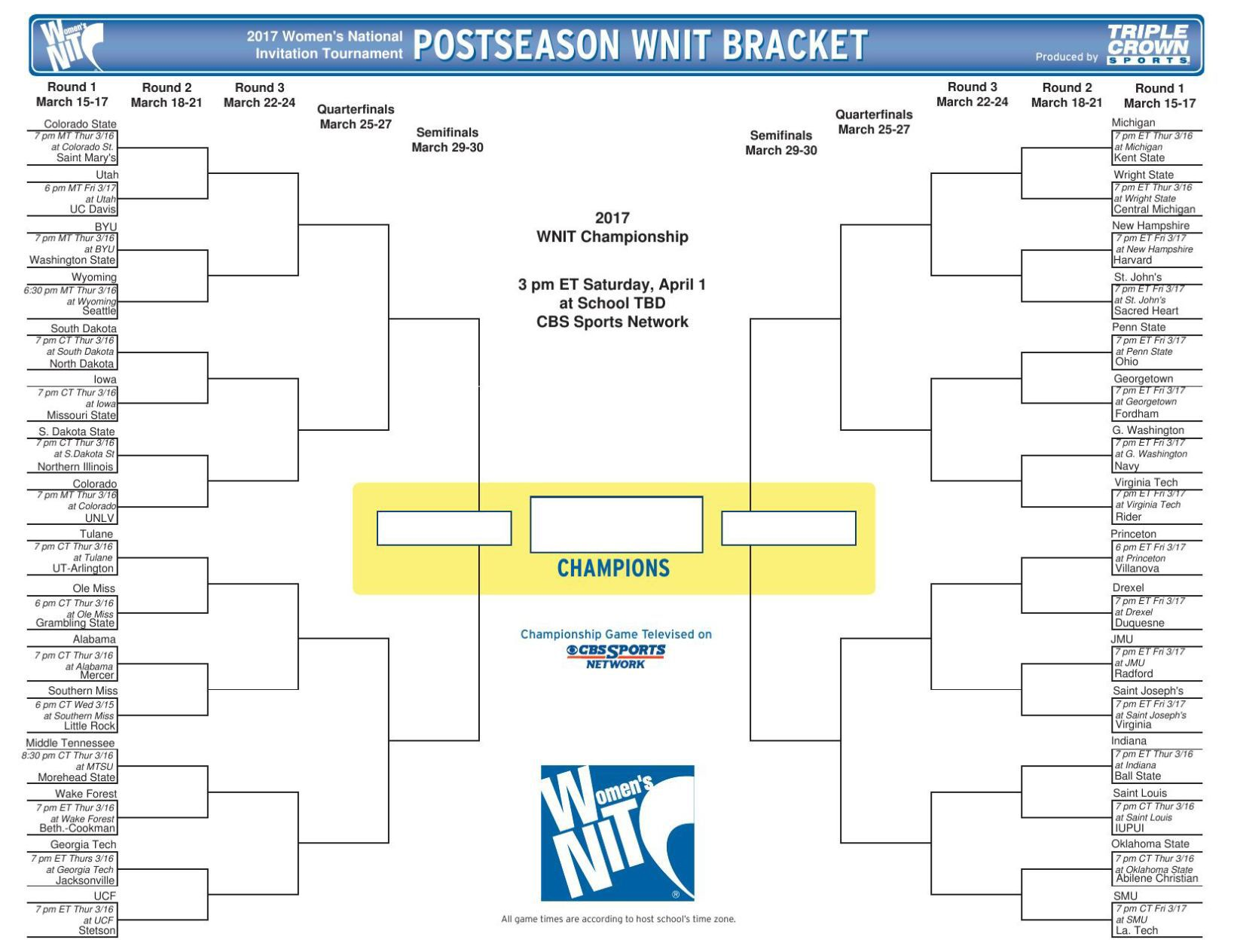 photo about Nit Printable Bracket known as 2017 WNIT bracket Iowa Hawkeyes Basketball