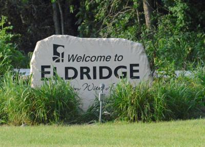 Welcome to Eldridge sign