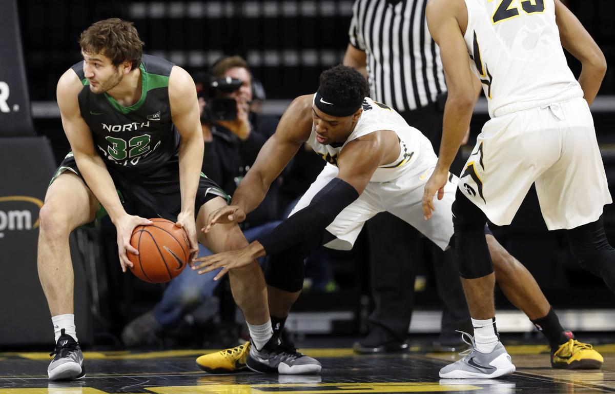 North Dakota Iowa Basketball