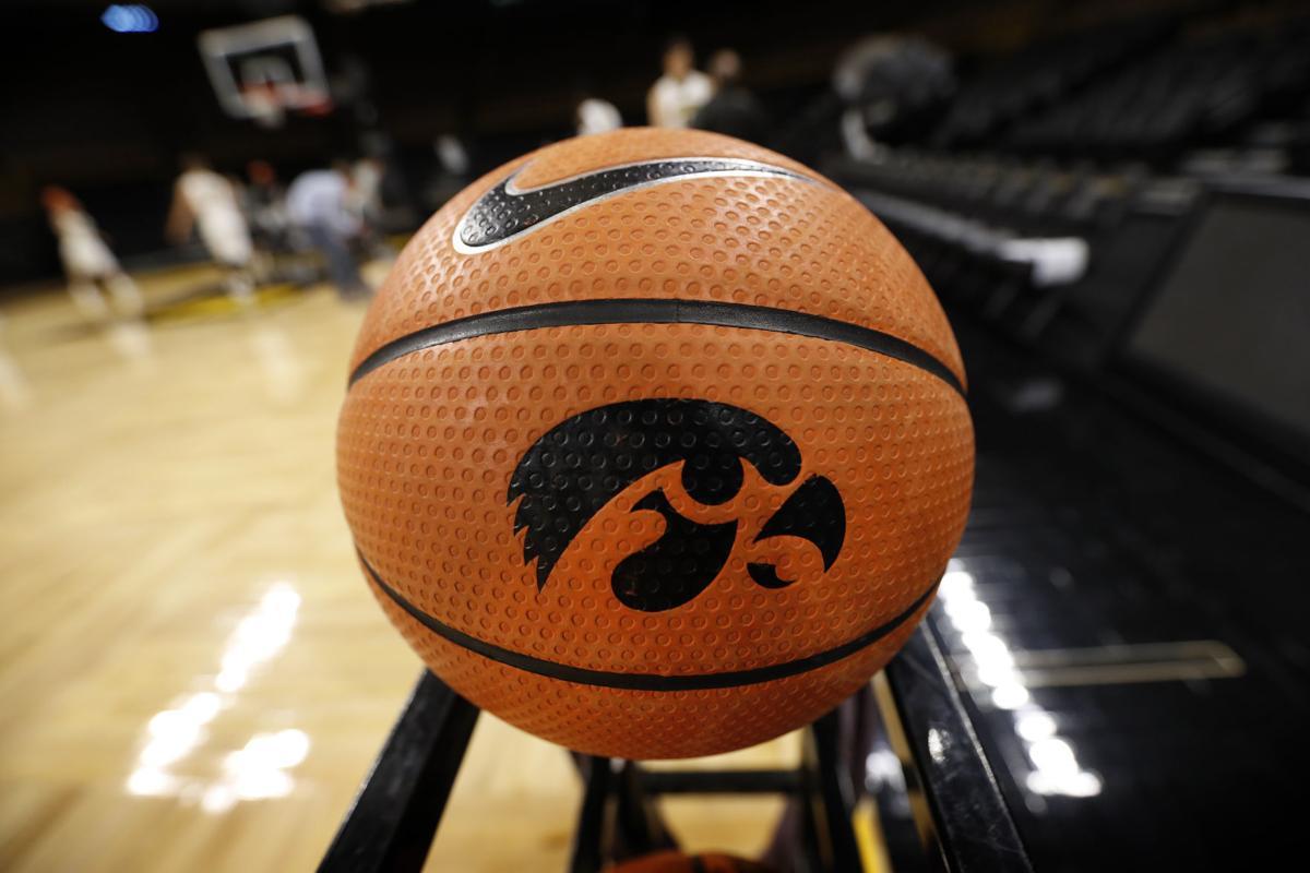 Iowa logo ball on rack