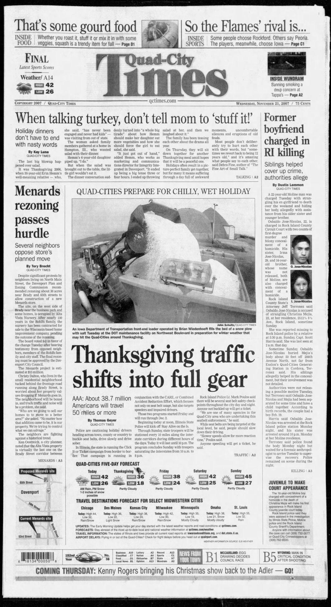 Nov. 21, 2007 page A1