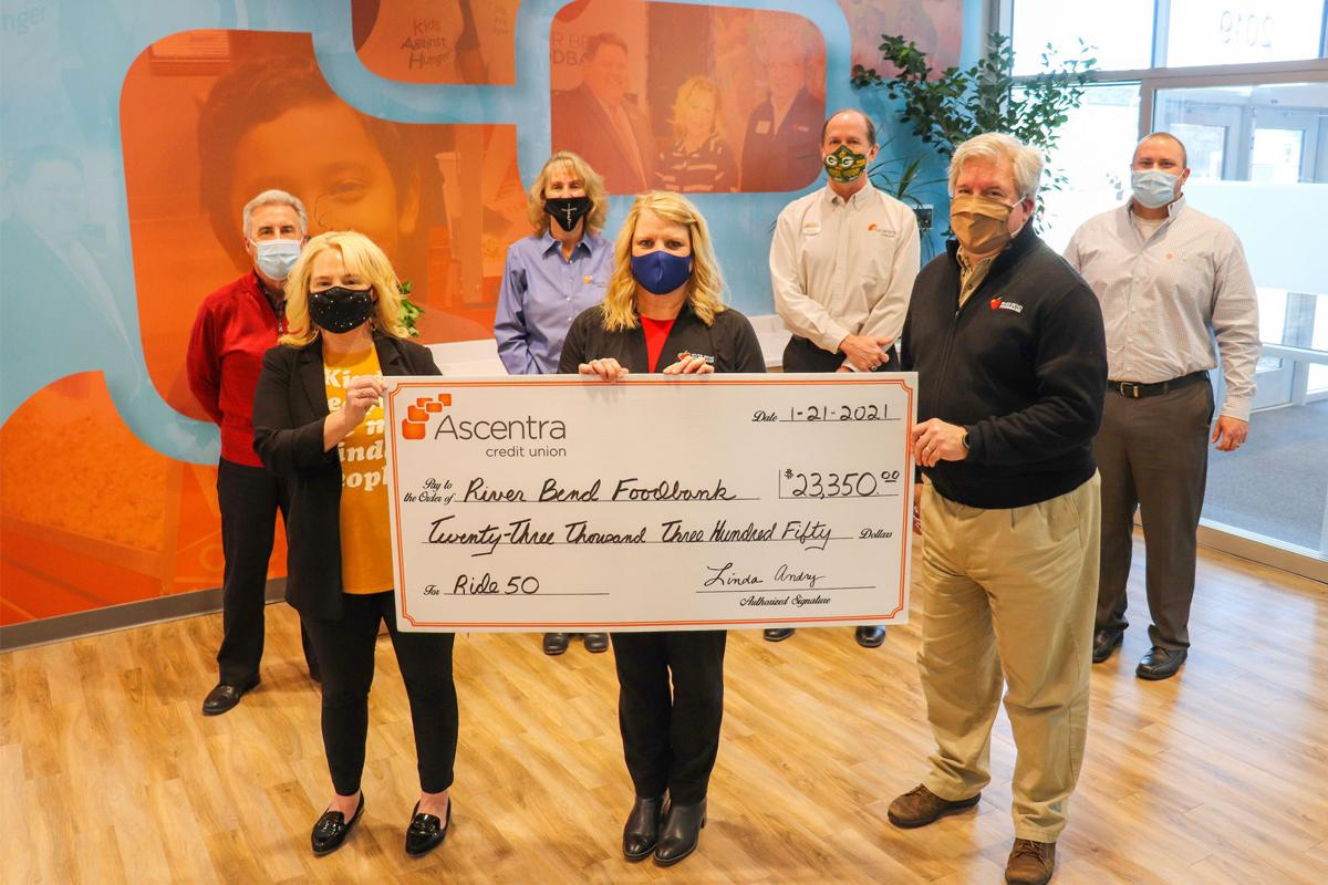 Ascentra donates to River Bend Foodbank