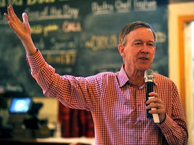 Democratic Presidential candidate John Hickenlooper in Davenport