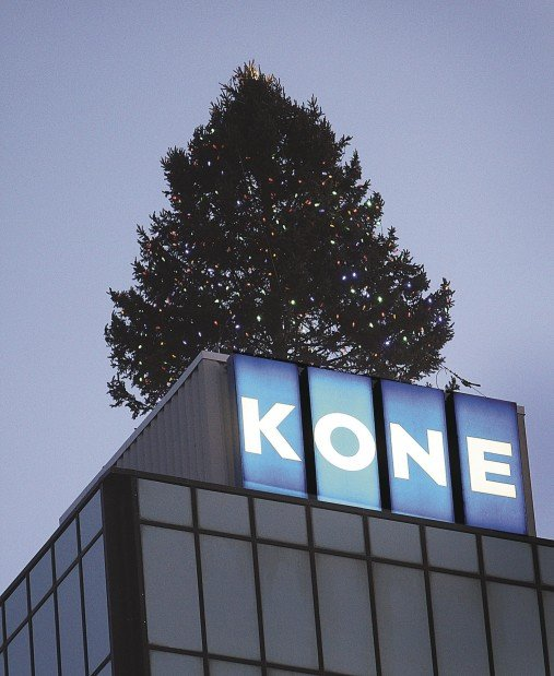 Kone Tower tree lit for final time | Local News | qctimes com