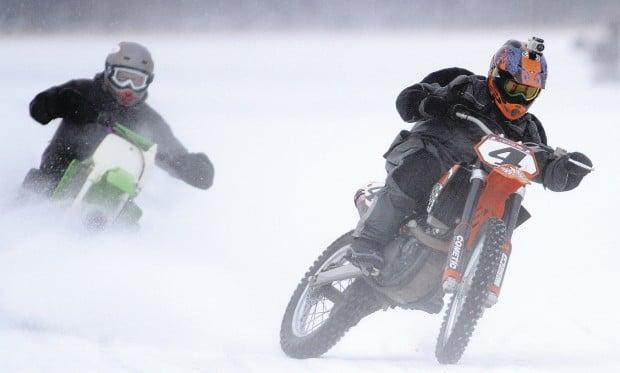 Dirt Bikes on Ice