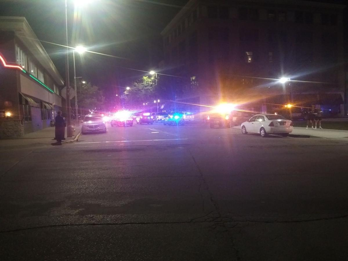 Rock Island and Rock Island County authorities on the scene of downtown shooting late Saturday
