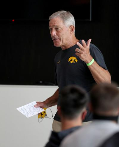 IOWA FOOTBALL TEAM MEETING