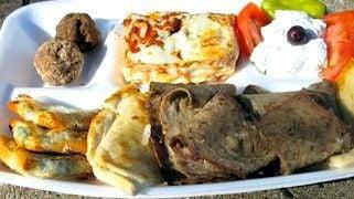 Greek festival food