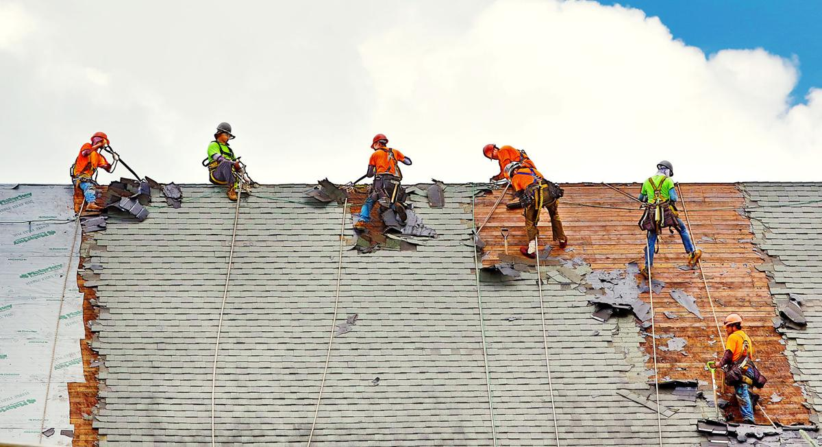 Roofing work at Sacred Heart Cathedral