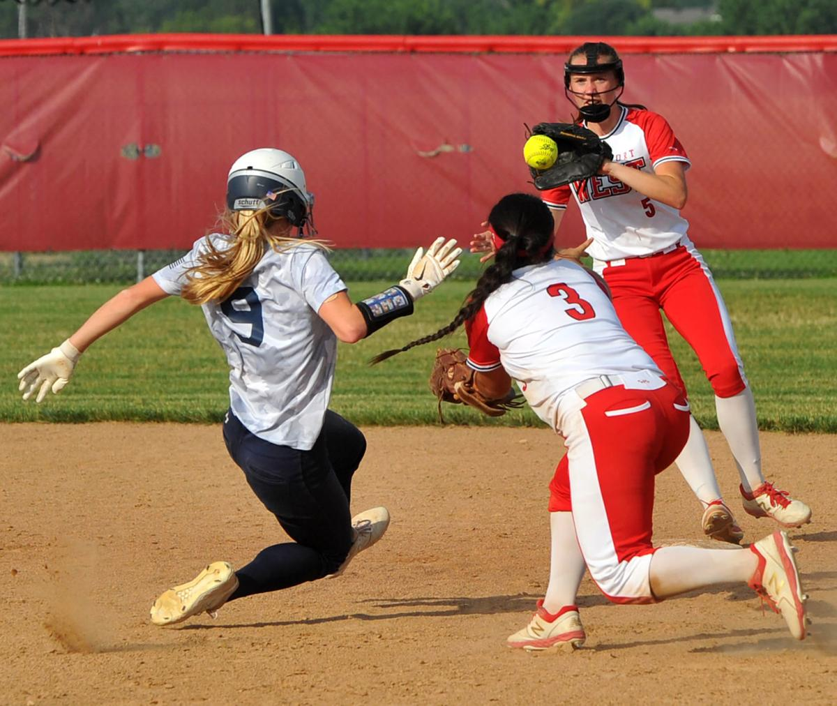 Pleasant Valley at Davenport West softball.