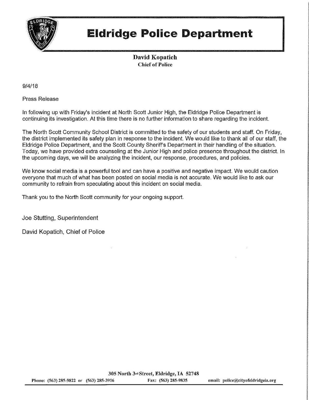 Eldridge statement