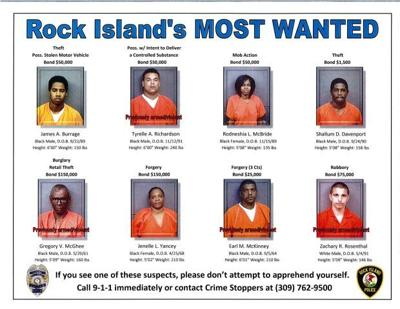 Rock Island releases 'most wanted' list | Local Crime